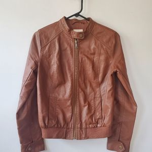 Old Navy Womens Synthetic Leather Jacket XS